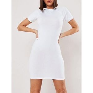 Missguided | white high neck bodycon mini dress